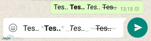SS WhatsApp - Text Formatting