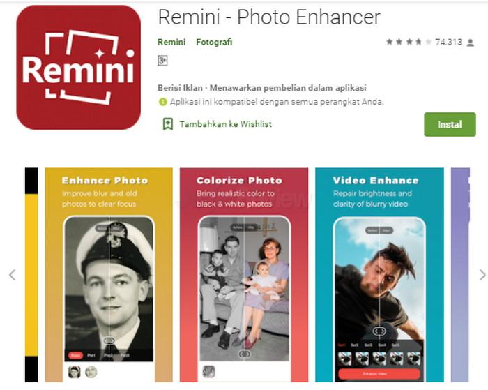 Cara restorasi foto smartphone