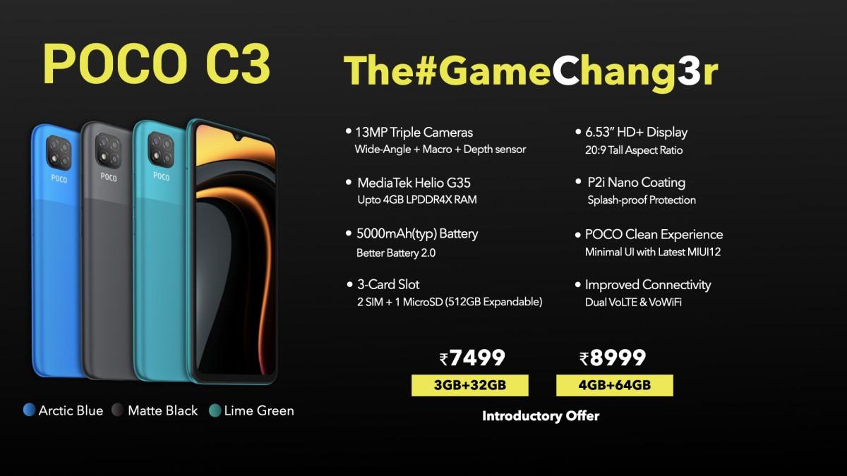 Harga dan spesifikasi Poco C3