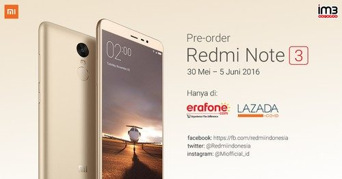 Pre-Order Redmi Note 3 Snapdragon
