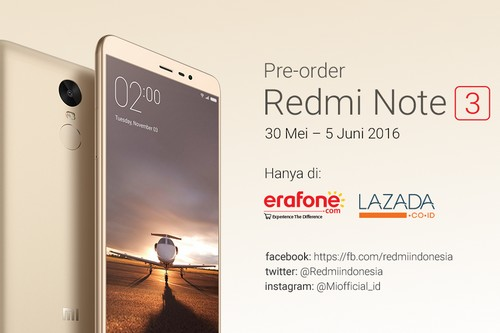 Pre Order Redmi Note 3 Snapdragon Feat.