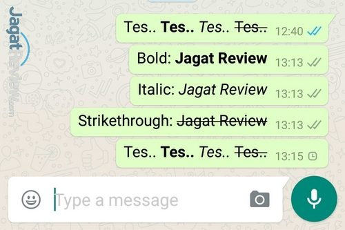 SS WhatsApp - Text Formatting Feat