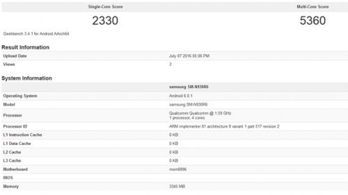 Galaxy Note 7 Snapdragon 823