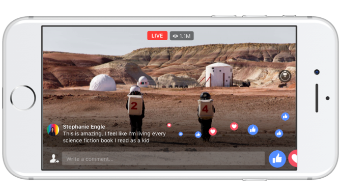 facebook live 360 video national geographic mars