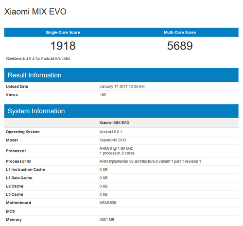 Xiaomi MIX EVO - Geekbench Browser 1-17-2017, 3-23-58 PM