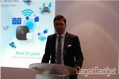 Mantosh Malhotra, Qualcomm SEA, membuka Snapdragon Tech Day Singapore