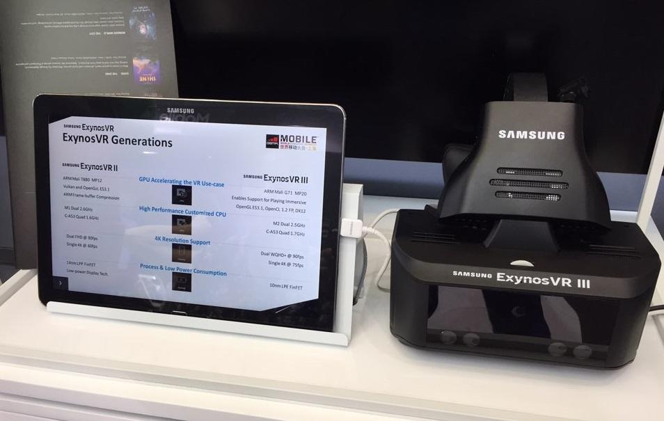 Samsung Exynos VR 3 HMD reference platform