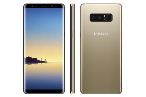 Galaxy Note 8 Midnight Black Maple Gold 1
