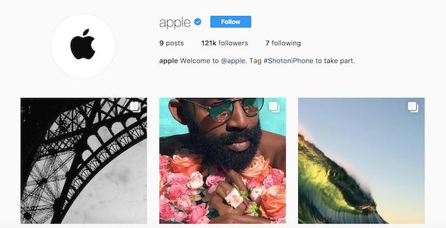 apple instagram official