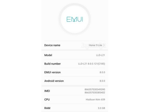 Honor 9 Lite EMUI