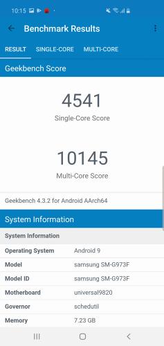 Geekbench 4 S10