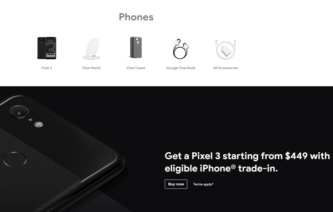 pixel 3 google store