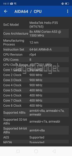 Aida CPU