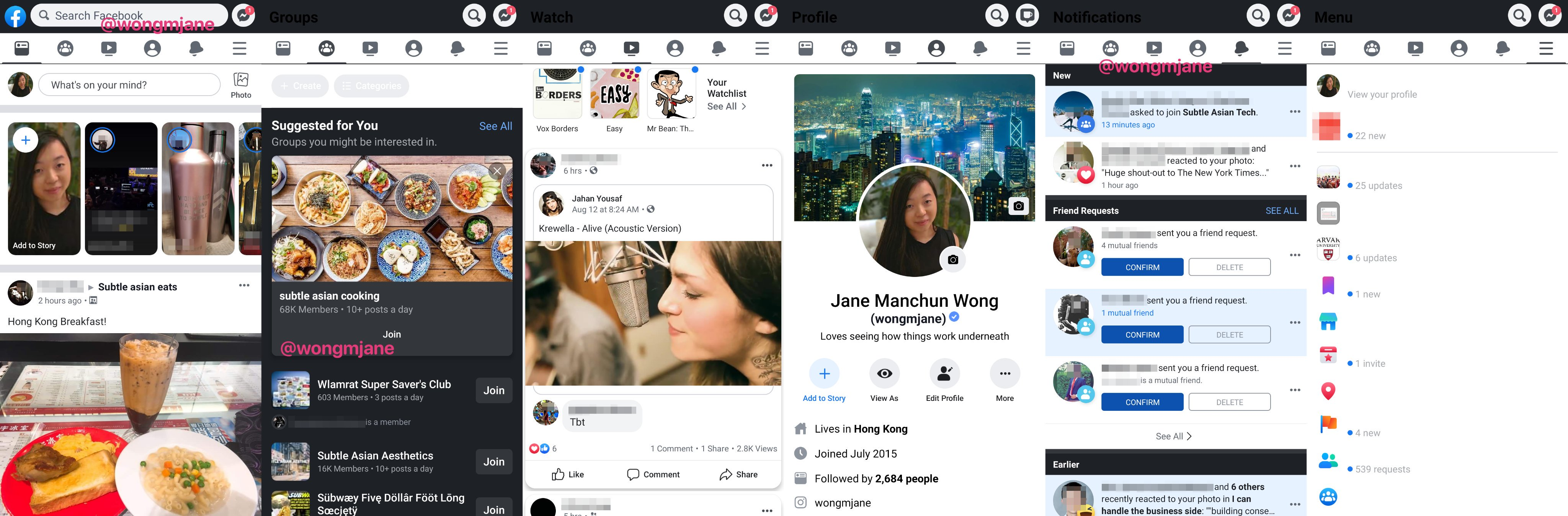 dark mode facebook early stage