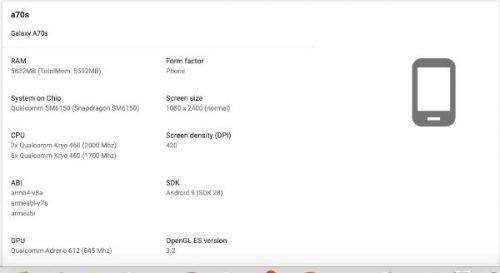 Samsung Galaxy A70s 4