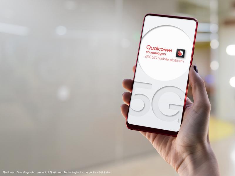 "Snapdragon 690 Reference Design ""5G"" Office Background"