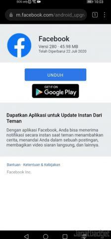 Facebook APK Tersedia di Situs Resmi