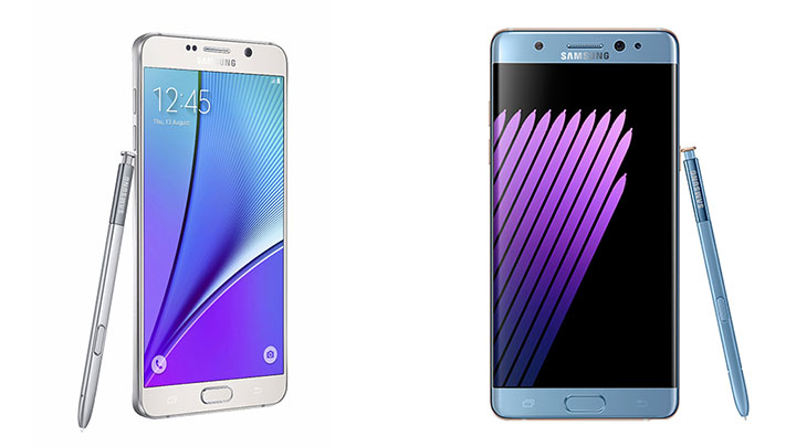 Galasy Note5 dan Galaxy Note7