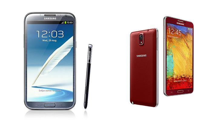 Galaxy Note II Galaxy Note3