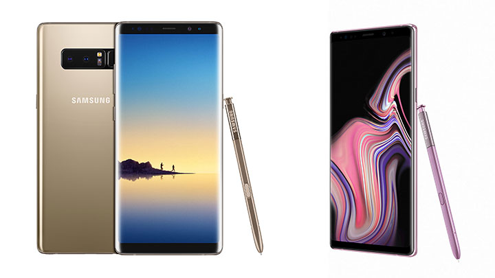 Galaxy Note8 dan Galaxy Note9