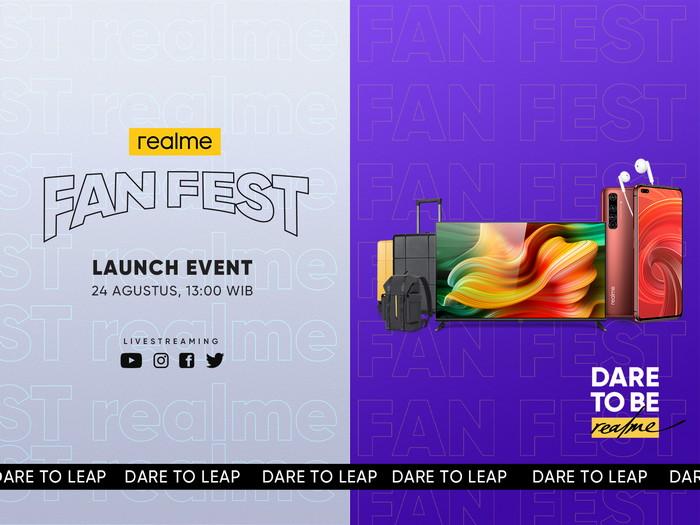 realme Fan Fest untuk peluncuran realme Smart TV realme X50 Pro 5G