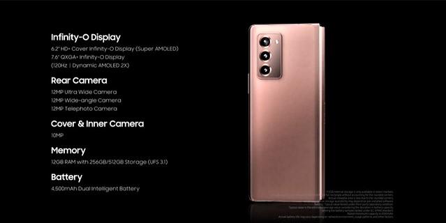 Spesifikasi lengkap Galaxy Z Fold2