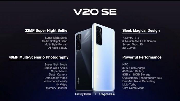 harga dan spesifikasi Vivo V20SE