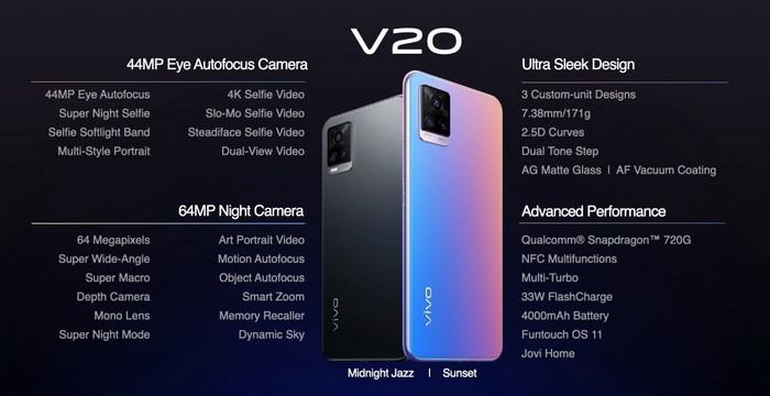 harga dan spesifikasi Vivo V20