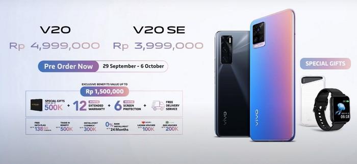harga dan spesifikasi Vivo V20 V20SE
