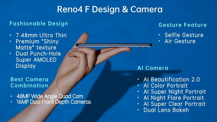 kamera dan desain reno4 F