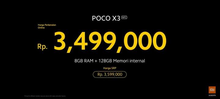 Harga POco X3 NFC