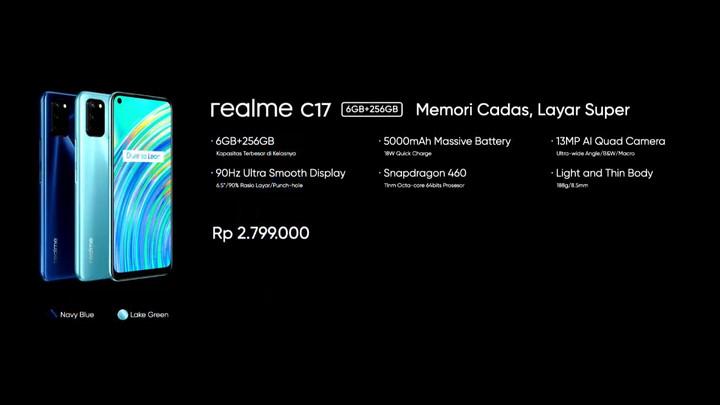 harga realme C17 memori 256GB