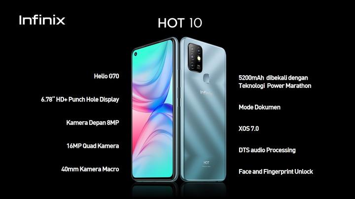 harga dan spesifikasi Infinix Hot 10