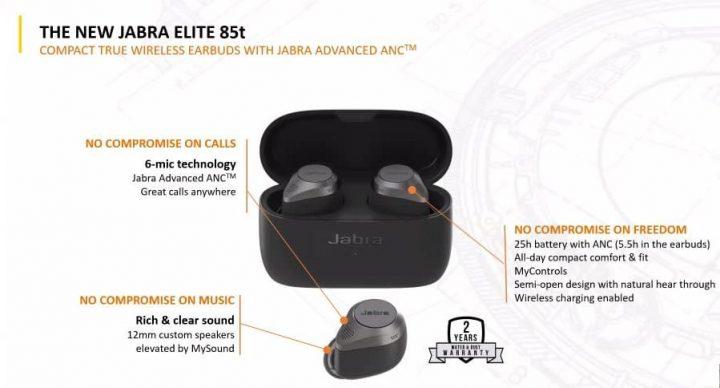 Jabra Elite 85t  Spesifikasi dan Fitur