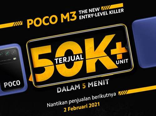 Penjualan Perdana Poco M3