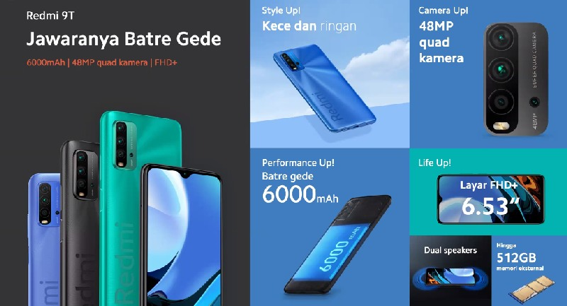 Spesifikasi Xiaomi Redmi 9T