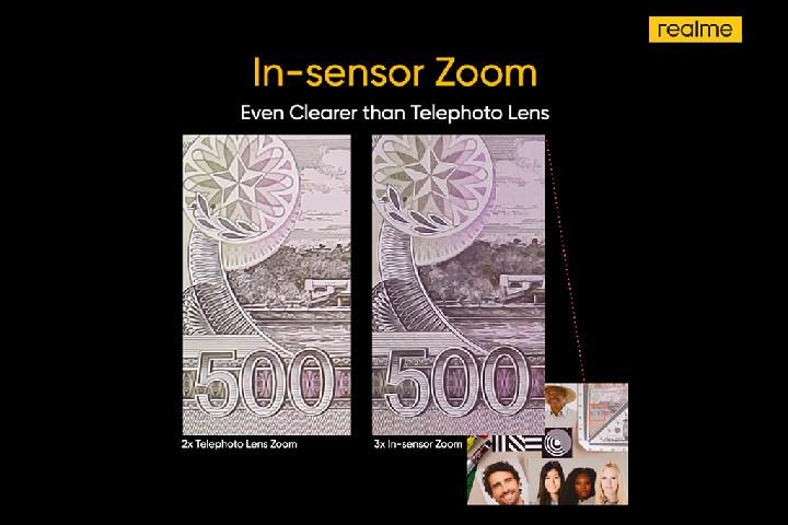 In sensor zoom
