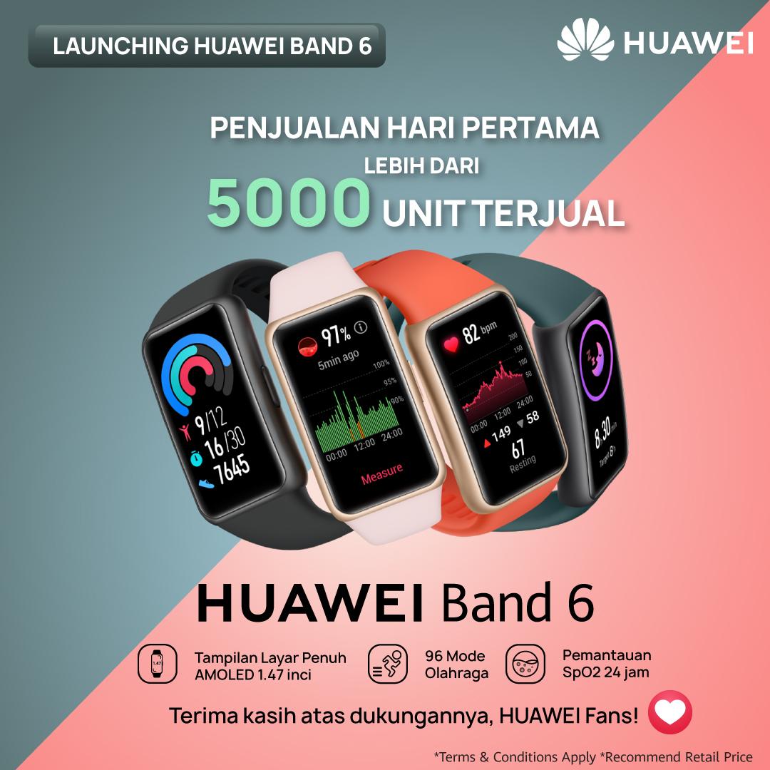 5000 Unit Huawei Band 6 Terjual Dalam 1 Hari