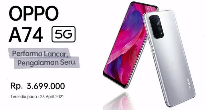Oppo A74 5G Harga dan Spesifikasi Indonesia