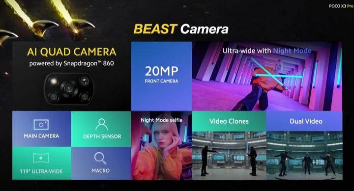 Spesifikasi kamera Poco X3 Pro