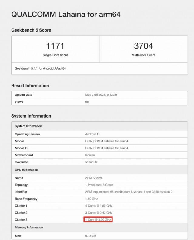 Snapdragon 888 Plus Geekbench