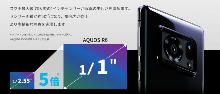 Spesifikasi Sharp Aquos R6
