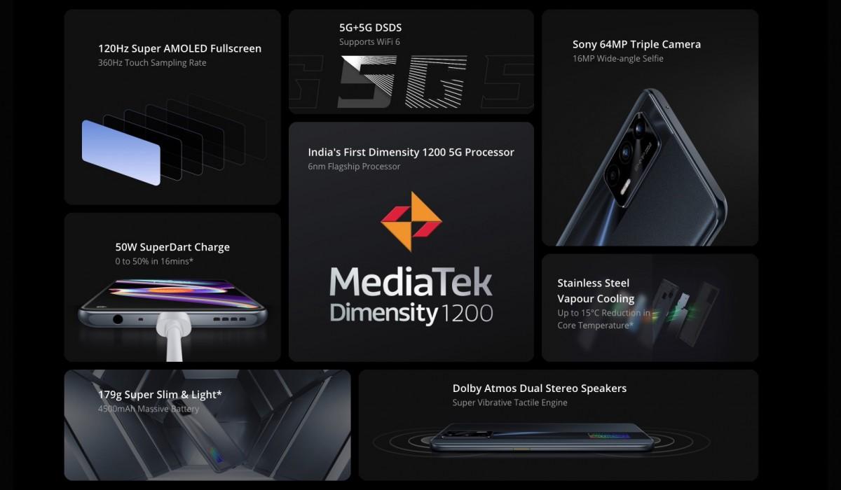 Realme X7 Max 5G spesifikasi