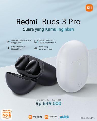 Redmi Buds 3 Pro Spesifikasi harga