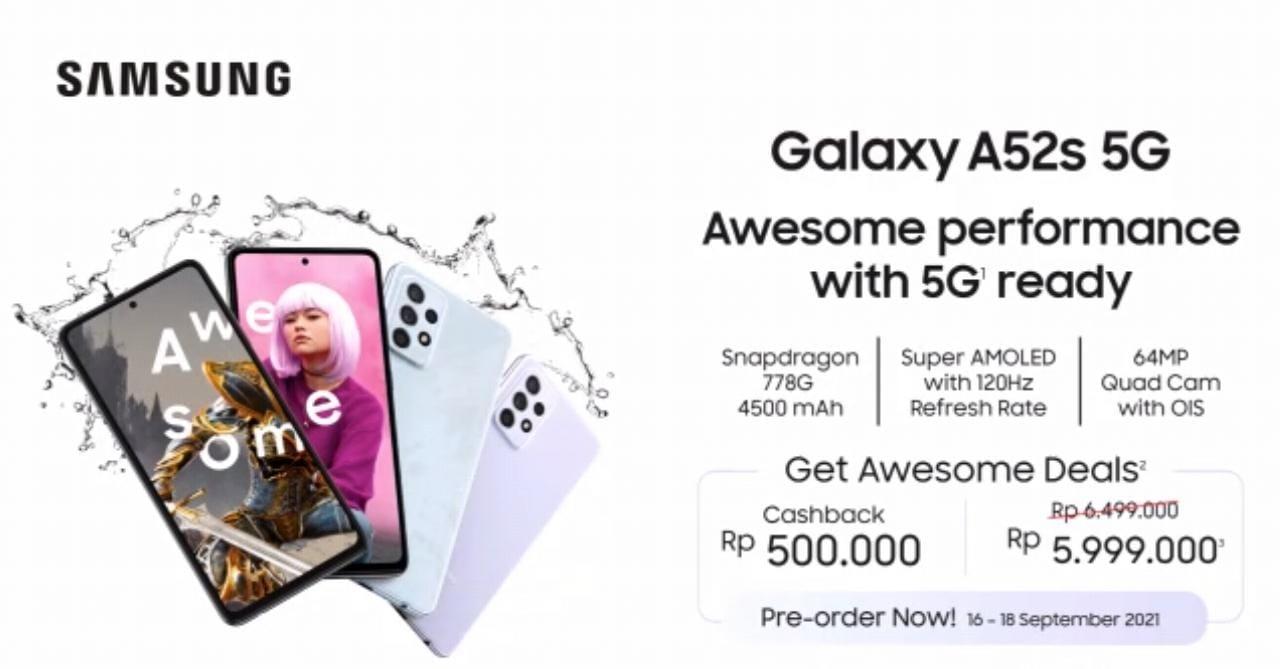 Galaxy A52s 5G Harga