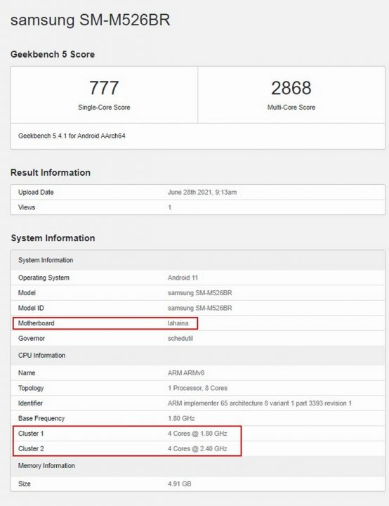 Samsung Galaxy M52 5G Snapdragon 778G (1)