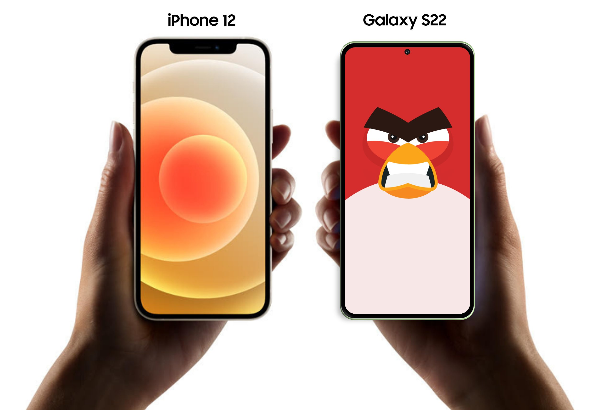 Galaxy S22 vs iPhone 12